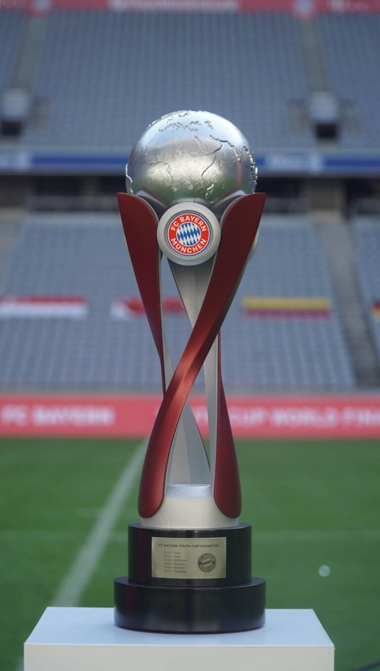 custom soccer trophy, soccer trophies, FC Bayern Youth cup