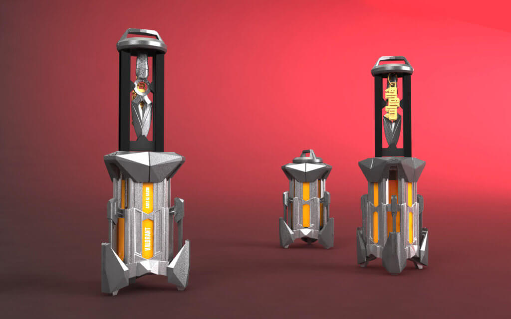 Valorant spike collectible, gaming collectible, 3D printed gaming asset